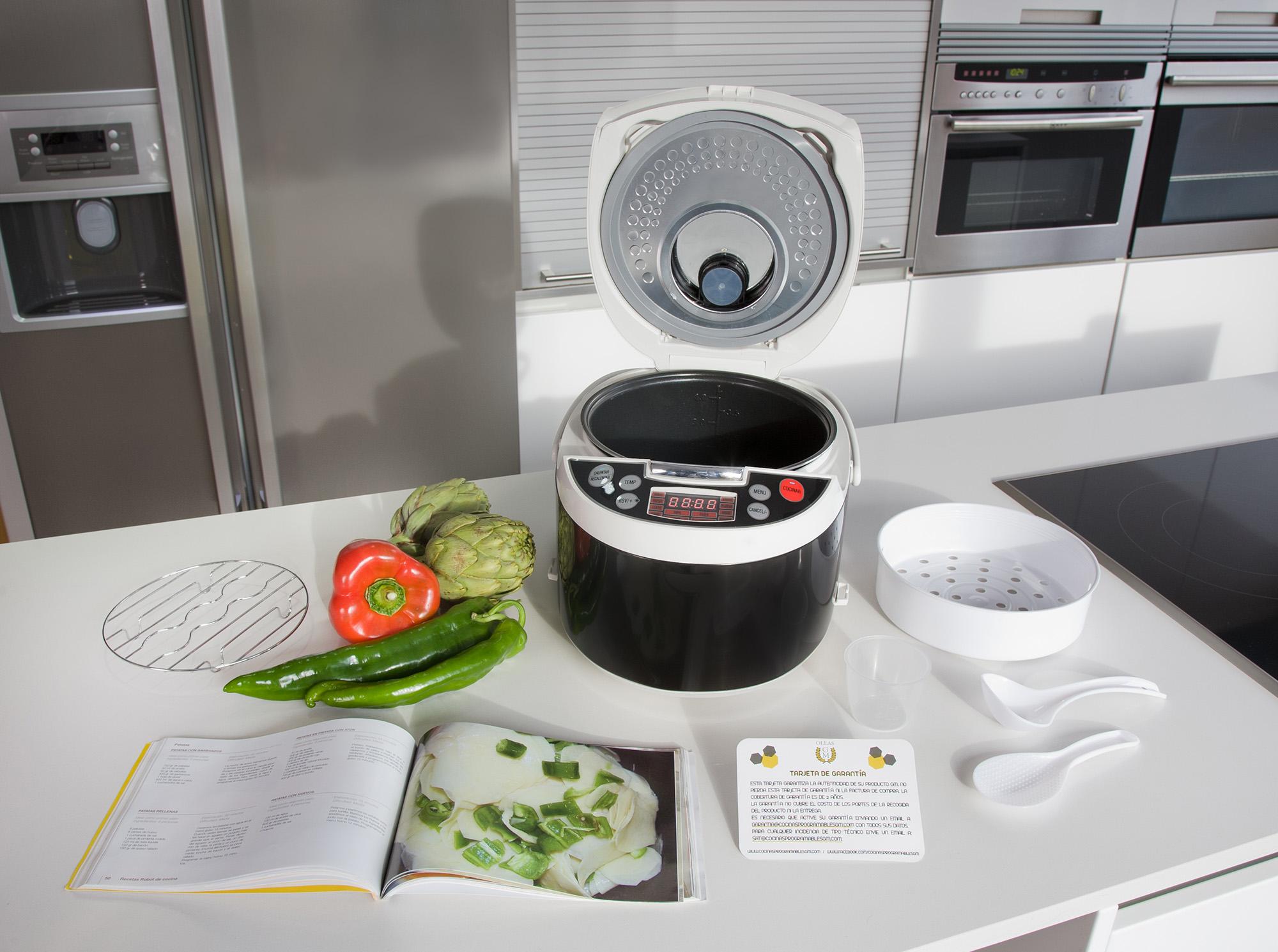Robot de cocina gourmet 5000 con carcasa de acero y voz en - Cocinar con robots de cocina ...