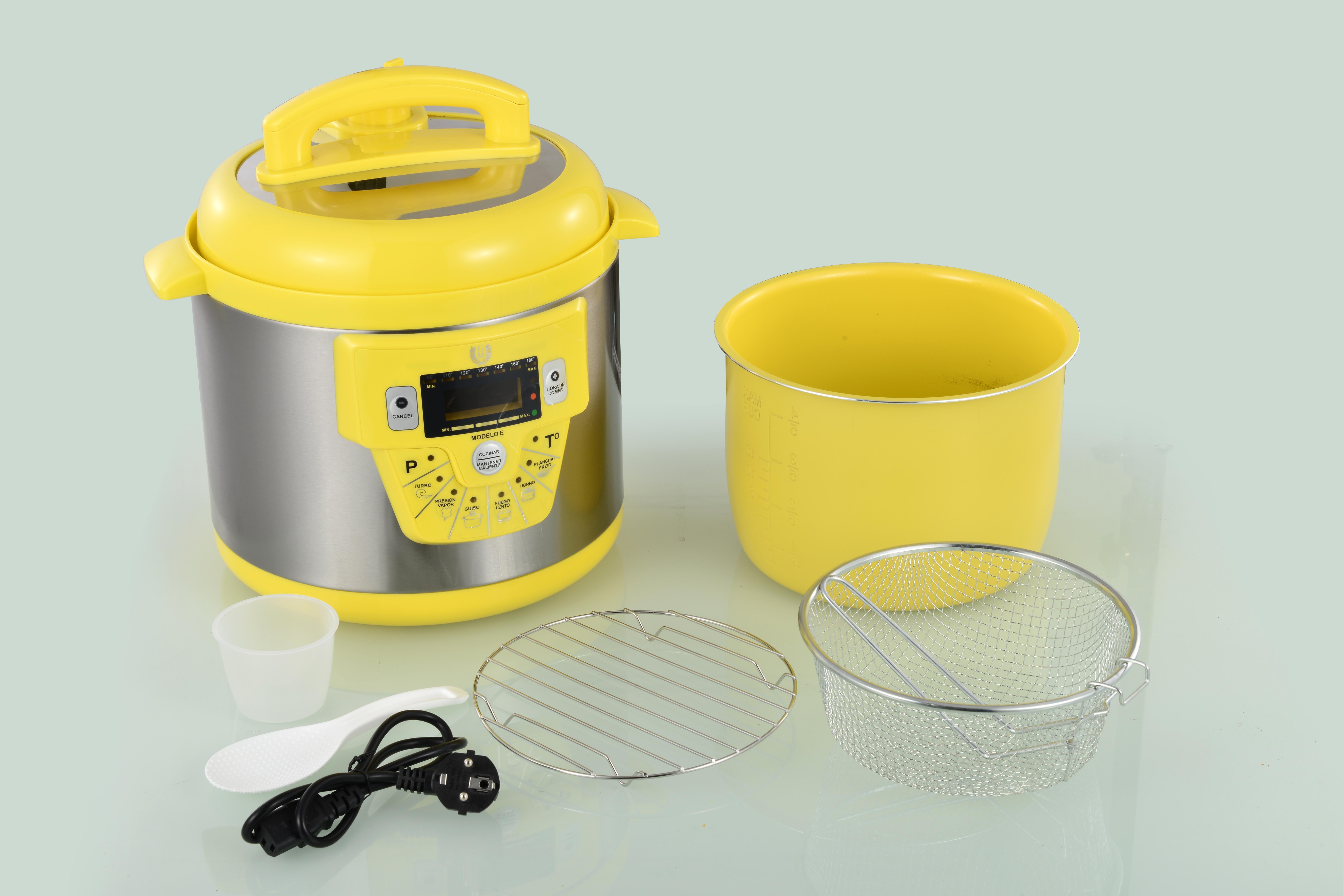 Robot cocina olla programable gm modelo e amarilla 6litro for Cocinar con olla gm