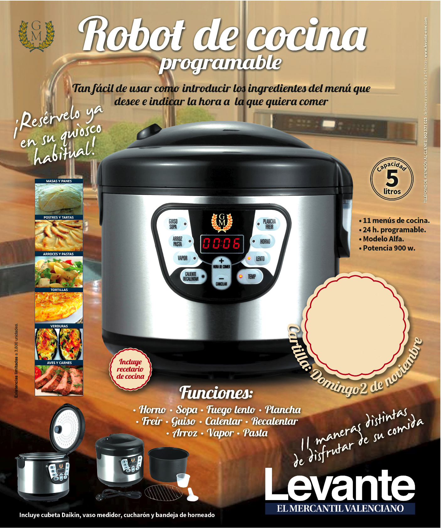 Gm medios ollas gm for Robot cocina programable