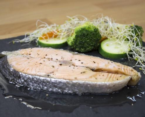 salmón en olla gm programable