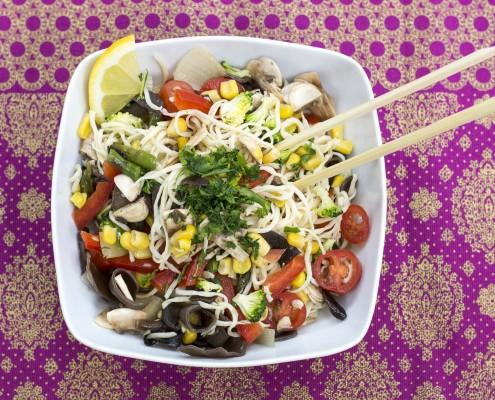 receta noodles verduras en olla gm
