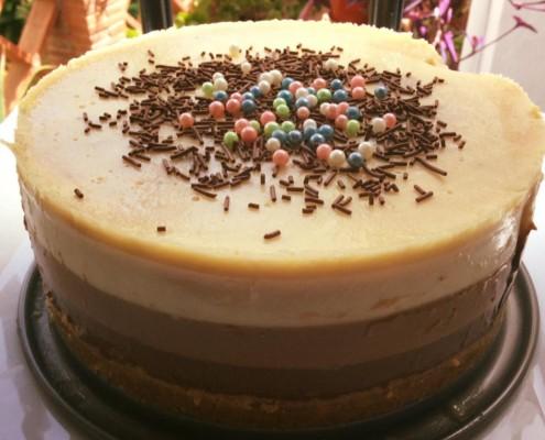 receta tarta de tres chocolates olla gm
