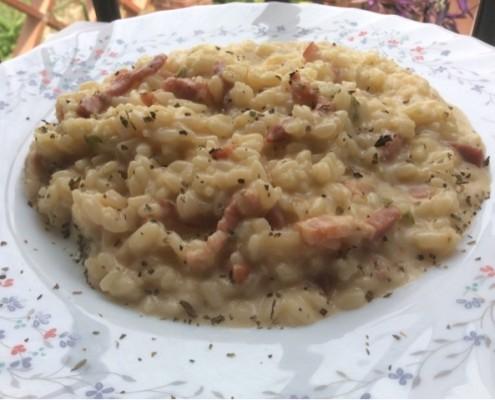 receta arroz a la carbonara olla gm