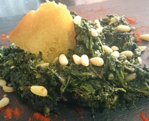 receta espinacas en olla gm