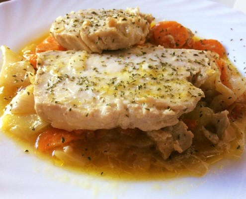 receta pescado olla gm