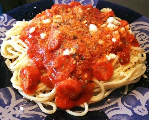 receta espaguetis en olla gm