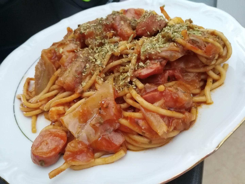 Espaguetis con repollo y salchichas en olla gm ollas gm - Repollo en olla express ...