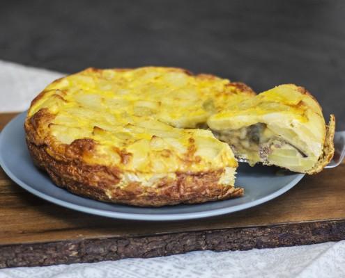 Tortilla de patata rellena Ollas GM