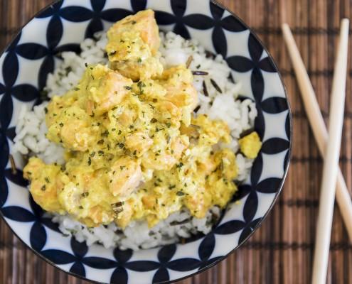 Salmón al curry Olla GM