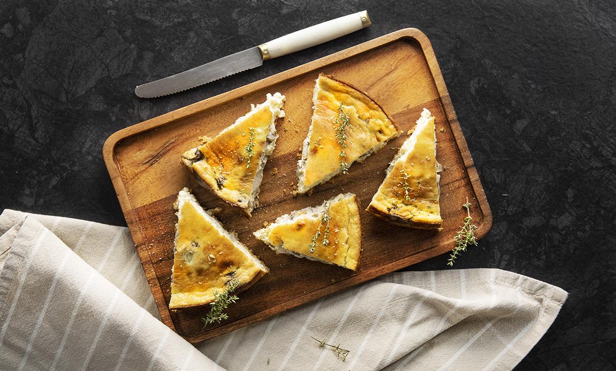 OllaGM_Horno_Tarta de queso con cebolla caramelizada y champiñón_RRSS